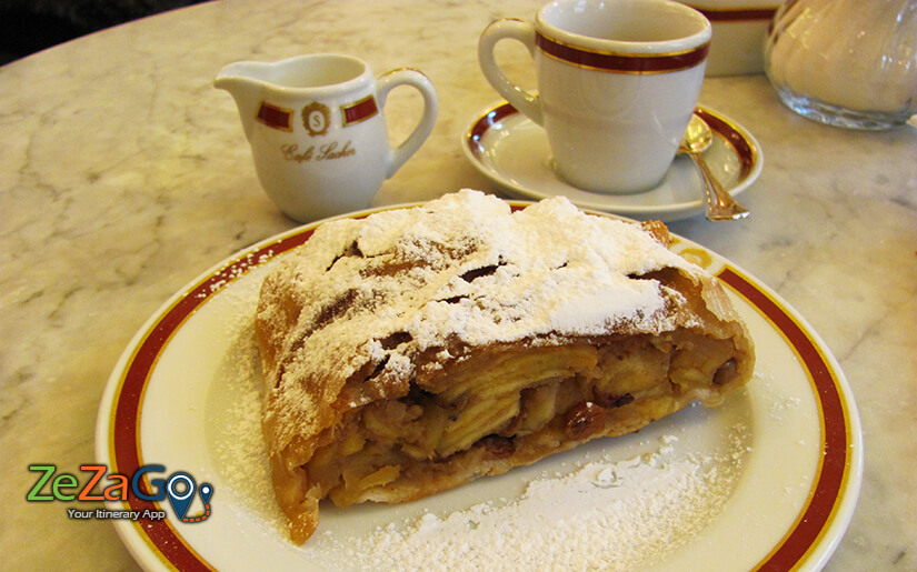Apple Strudel at Cafe Sacher Vienna