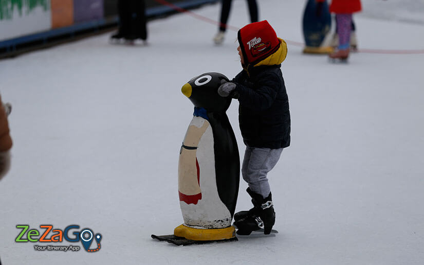Children experience ice Skating
