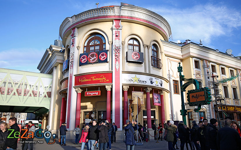 Madame Tussauds museum in the Prater amusement park