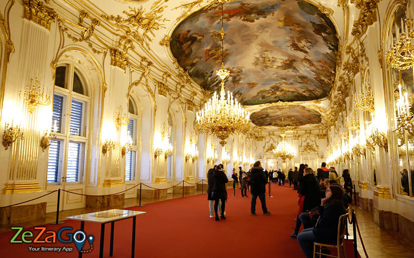 Schonbrunn inside the Palace