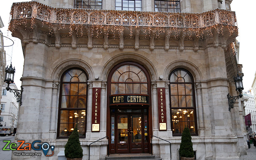 Cafe Central Building in Vienna